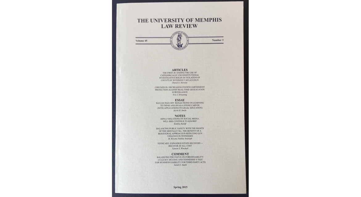 The University of Memphis law review. (eJournal ...